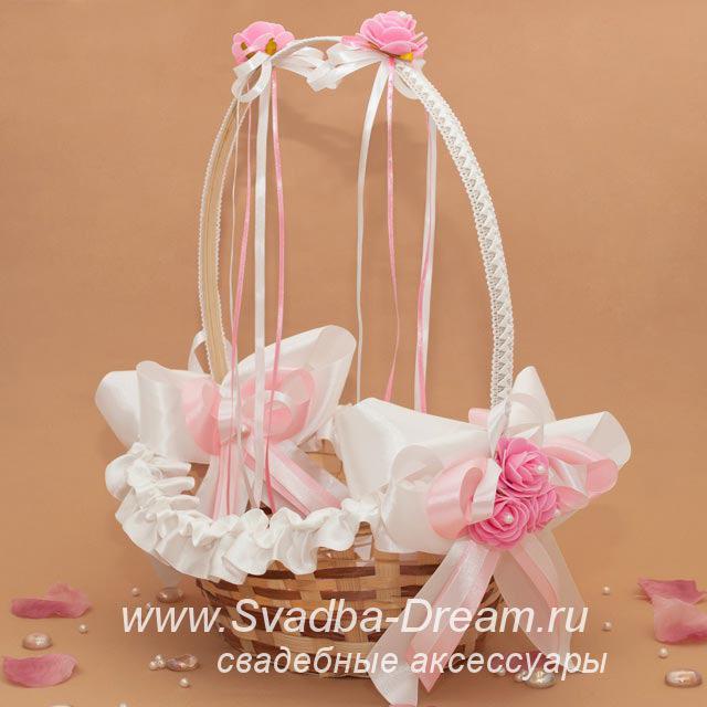 Корзинка свадебная для лепестков роз