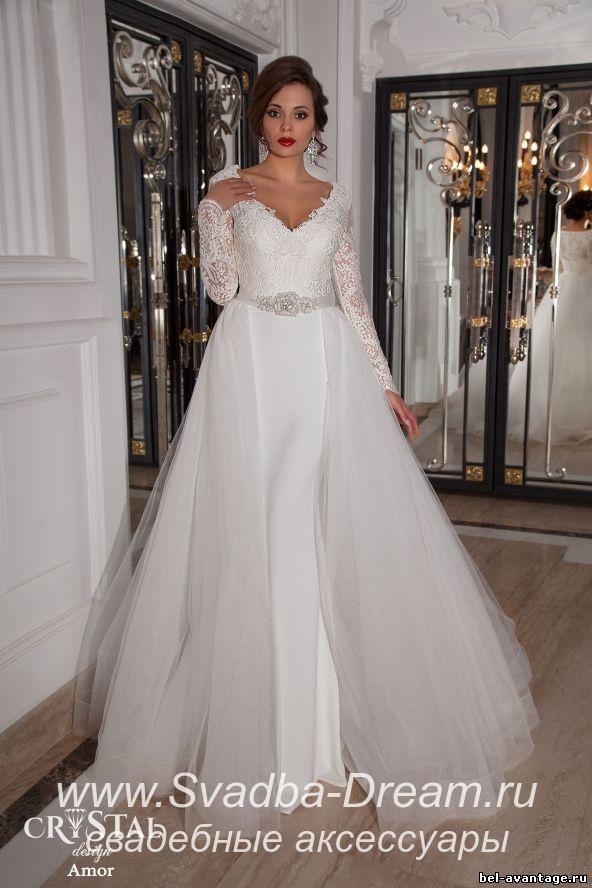 Свадебное платье трансформер с отстегивающейся юбкой купить